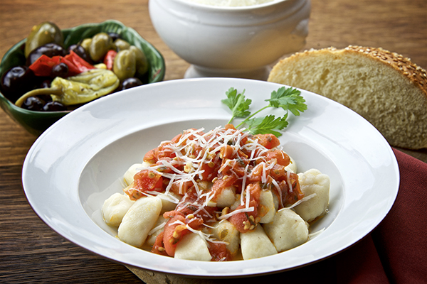 gnocchi and red sauce